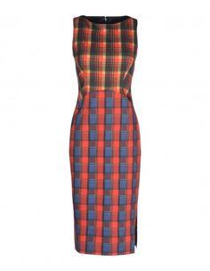 Altuzarra Mixed-Plaid Dress