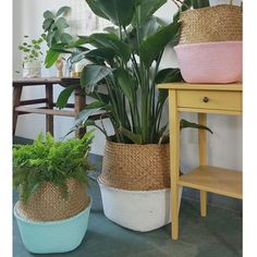 SaicleHome Basket Storage Plant Pot Bolsa de lavandería