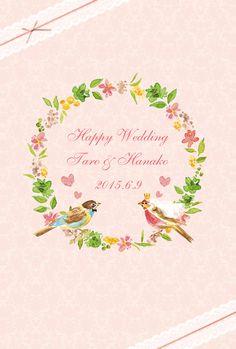 ハンドメイドマーケット minne(ミンネ)| 【オーダーメイド/デザインC】結婚式 ウェルカムボード パーティー/お祝い/DM/カード