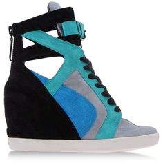 CASADEI High-top sneaker ($820) ❤ liked on Polyvore