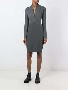 Chalayan crossed neck dress