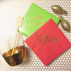 Holiday napkins are almost sold out but red + green are always in stock and ship out next day