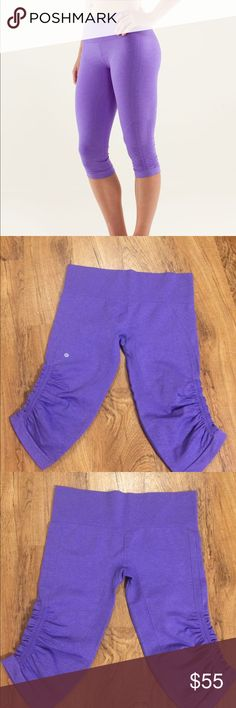 Lululemon In The Flow Crop Light purple color. No pilling or imperfections. Size 10. lululemon athletica Pants