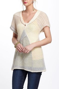 Mixed Patchwork Sweater by Far Away From Close