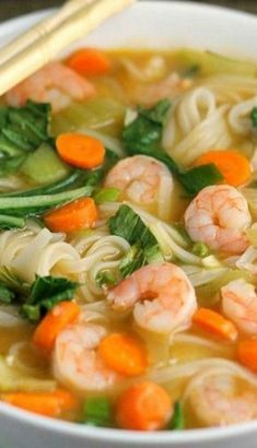 Chinese Soup Recipes, Seafood Soup Recipes, Easy Soup Recipes, Asian Recipes, Cooking Recipes, Healthy Recipes, Asian Desserts, Healthy Food, Rice Noodle Soups
