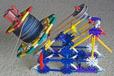 Use K'nex to create a ball winder. It's pretty easy and way cheaper than buying an actual yarn ball winder.