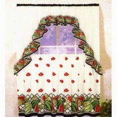 Watermelon Kitchen Curtains | Watermelons Kitchen Curtain Set