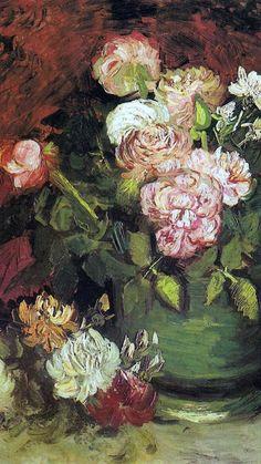 Vincent van Gogh🌻 Bowl with Peonies and Famous Flower Paintings, Famous Impressionist Paintings, Vincent Van Gogh, Piano Art, Dutch Artists, Renaissance Art, Great Pictures, Impressionism, Flower Art