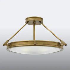 Flush Ceiling Lights Uk, Ceiling Lamp, Lighting Uk, Bedroom Lighting, Led Röhren, The Bedford, White Lamp Shade, Messing, Light Fixtures