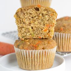 Zucchini Carrot Oatmeal Muffins, made with whole wheat and golden raisins, are the perfect option for a healthy, wholesome and delicious breakfast or snack.