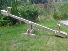 Plans for a seesaw teeter-totter with sliding seats PDF image 2 Kids Yard, Backyard For Kids, Backyard Ideas, Wood Playground, Backyard Playground, Homemade Slide, Kids Seesaw, Zip Line Backyard, Diy Garden Projects