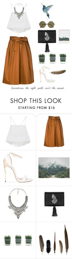 """Pocahontas"" by heyyitsmejane ❤ liked on Polyvore featuring A.L.C., Tome, Casadei, WithChic, Nach Bijoux, Mineheart and Victoria Beckham"