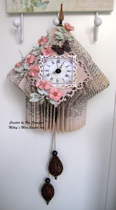 It's cold and windy here and the last few days we've been having our radiators replaced . So what's a girl to do to keep warm but turn he. Old Book Crafts, Book Page Crafts, Folded Book Art, Book Folding, Paper Art, Paper Crafts, Cut Paper, Book Sculpture, Paper Sculptures
