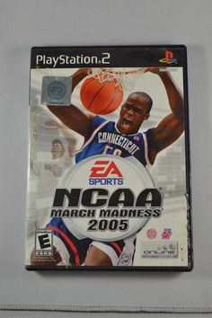 NCAA March Madness 2005 Playstation 2 game on sale in great condition, tested works like new and backed by our 120 day warranty available for sale. Games W, Playstation Games, March Madness, Ncaa March, Video Games, Game Rooms, Free Shipping, Tracking Number, Sony