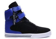Supra High Tops In Black Blue White