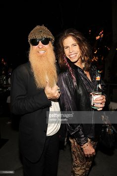 Musicians Billy Gibbons and Steven Tyler attend Slash's birthday cocktail party at RHUMBAR at The Mirage Hotel and Casino on July 2009 in Las Vegas, Nevada. Billy Gibbons, Steven Tyler, Hot Blue, Texas, Zz Top, Aerosmith, Music Icon, Birthday Cocktail, Music Artists