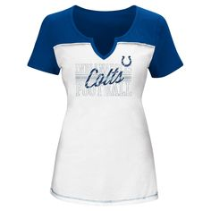 T-Shirt Indianapolis Colts White Xxl, Women's, Multicolored White