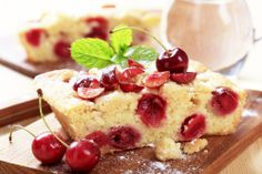 Cherry Sponge Cake using fresh cherries! A great alternative to cherry pie for Valentines Day!