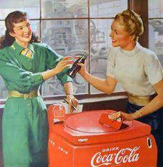 Coca Cola 1950s ad