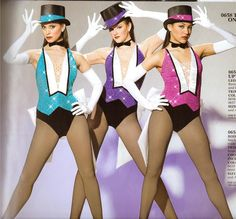On Stage 658 Jazz Tap Showgirl Skate Twirl Pageant Competition Dance Costume