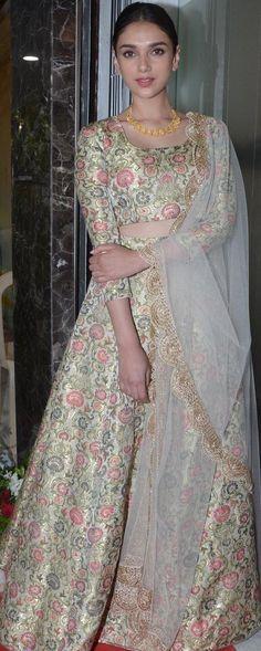Aditi in a Payal Singhal lehenga Pakistani Dresses, Indian Dresses, Indian Outfits, Ethnic Dress, Indian Ethnic Wear, India Fashion, Asian Fashion, Ethnic Fashion, Women's Fashion
