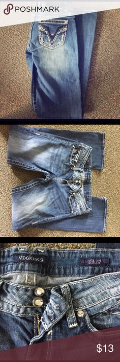 Vigoss jeans (for a cause!!) Vigoss jeans for a cause! Size 5/6. Length 33. Super cute and only worn a few times. Running a charity race for the Multiple Myeloma Research Foundation in honor of my dad who was diagnosed with this cancer in December. Donate at least $10 to the posted link and I'll lower the price and see you these jeans for $3!!!! https://endurance.themmrf.org/2017YOR/Breeannadam ❤ Vigoss Jeans Boot Cut