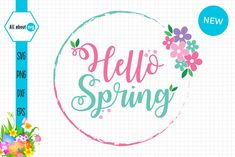 Hello #Spring #Circle Hello Spring Circle Creative Resume Templates, Design Templates, Programing Software, Funny Fathers Day, Hello Spring, All Design, Cricut Design, Spring Flowers, How To Draw Hands