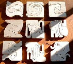 The animal puzzle range is made of attractive Finnish birchwood from managed forests and can be painted as the child's fantasy dictates. Wood Crafts, Diy And Crafts, Arts And Crafts, Wood Projects, Woodworking Projects, Animal Puzzle, Scroll Saw Patterns, Wooden Puzzles, Designer Toys