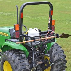 Roll Bar Mounted Tool Tray-Tool-Tray is ideal for carrying hand tools such as wrenches, hammers, chains, hitch pins, etc. The Tool-Tray basket measures long x high x deep and attache Small Tractors, Compact Tractors, Compact Tractor Attachments, John Deere Attachments, Utility Tractor, Tractor Cabs, Tractor Accessories, Tractor Mower, Lawn Tractors