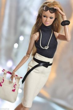 Dollsalive  fashion royalty,fr, barbie Agate outfit, leather shoes, bag