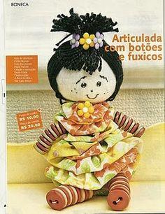 Talita Monteiro: Bonequinha Fuxico e Botoes