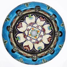 Photography Gallery Sites Mexican La Reina Round Vessel Hand painted Bathroom Basin