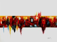 "Buy Cardiogram, a Acrylic on Canvas by Niki Katiki from Greece. It portrays: Abstract, relevant to: abstract art, abstract painting , colorful abstract, acrylic painting, acrylic abstract, red blue yellow abstract ""Cardiogram"" is an abstract acrylic painting. An expressive artwork with powerful contrasts and vivid colors combined with well balanced volumes that build an imposing composition.   The size of artwork is: 60 X 80 X 3 
