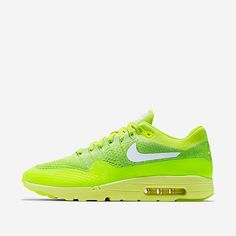 The Air Max 1 Ultra Flyknit is highlighted with a volt upper, ready for release tomorrow.