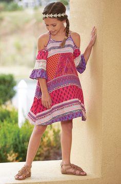 From CWDkids: Open-Shoulder Paisley Dress