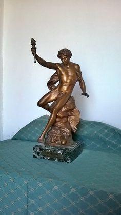Picault sculptue antique bronze classical statue excelsior