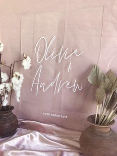 Acrylic Wedding Welcome Sign   Modern Minimalist Wedding Engagement Event Signs   White Black or Clear Acrylic   Willow and Ink