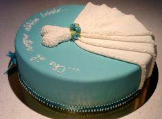 Per un addio al nubilato con gran stile!!! Blue cake whit wedding dress....