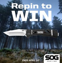 #SOG #TakePoint RePin To Win this #SOGTridentElite #Tanto Use @SOGKnives and #SOGgiveaway3 in your description! Winner randomly selected April 24. garyrobinson24 was the winner!