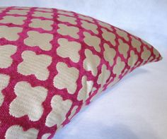 Decorative Pillow Cover in Unique Pink by PillowLoftHomeDecor, $35.99