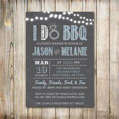 I Do BBQ Couples Shower Wedding Shower I Do Bbq by ThePaperTrailCo