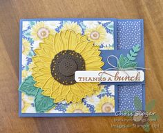 Sunflower Cards, Dandelion Wish, Birthday Cards For Men, Stamping Up Cards, Milestone Birthdays, Paper Design, Flower Pots, Stampin Up, Crafting