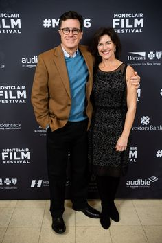 Stephen Colbert and Evelyn McGee-Colbert arrive at the Post-Election Evening to Benefit Montclair Film Festival at NJ Performing Arts Center on November 19, 2016 in Newark, New Jersey.