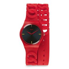 Swatch Cranberry Link Watch #Swatch #SwatchWatches