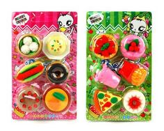 Miniature Food Erasers - Kid's Love 'em!