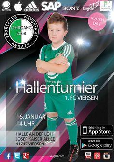 Wir nehmen am Samstag, den 16. Januar 2016 um 14 Uhr am Hallenturnier von 1. FC Viersen teil. Mehr unter vajg08.com.