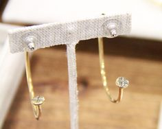 These screw hoops from Winifred Grace, made in Chicago (Available for purchase now)