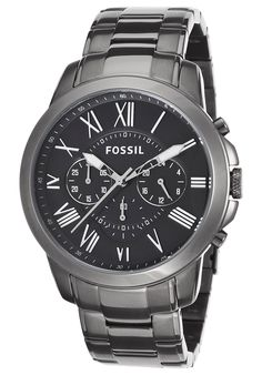 Fossil Men's Grant Chrono Gunmetal IP Stainless Steel Black Dial - Watch FS4831,    #Fossil,    #FS4831,    #WatchesChronographQuartz