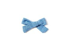 Chambray Baby Girl Headband; A bow that matches everything