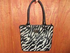 AK Anne Klein Zebra Design Perfect Shopper Tote Bag #AnneKlein #TotesShoppers